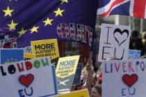 Protest anti Brexit la Londra. Mii de oameni au iesit pe strazi, cu cateva zile inainte ca Theresa May sa declanseze iesirea UK din UE