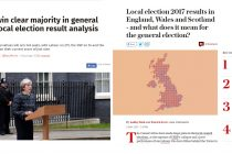 Local election 2017 results – English council results are good news for Theresa May. Labour lost control of Glasgow council for the first time since 1980