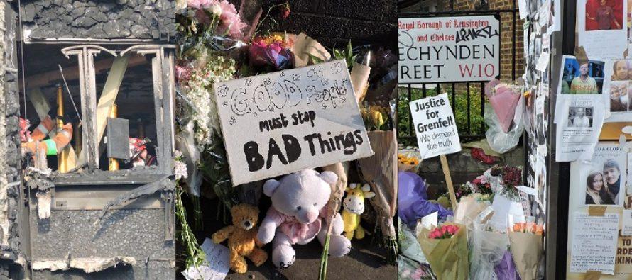 GRENFELL TOWER, LONDRA. Un nou bilant indica 79 de persoane moarte sau disparute. RoNews.co.uk va prezinta imagini emotionante de la Grenfell Tower