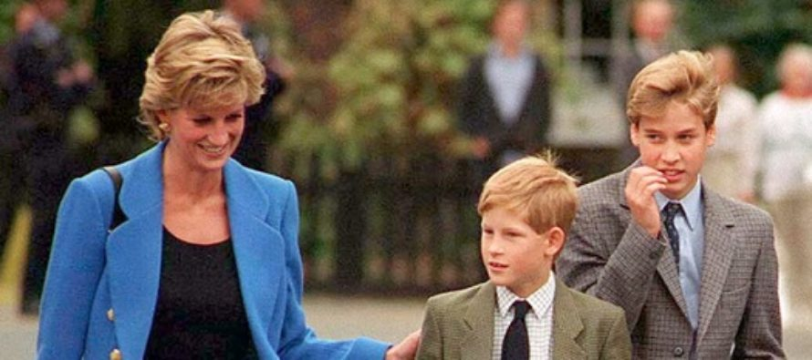 Printul William si printul Harry aduc un omagiu mamei lor, printesa Diana, in Kensington Gardens