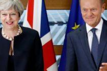 Premierul Marii Britanii s-a intalnit la Bruxelles cu oficialii UE. May promite sa livreze Brexit-ul la timp, Tusk sustine ca nu se intrevede niciun progres