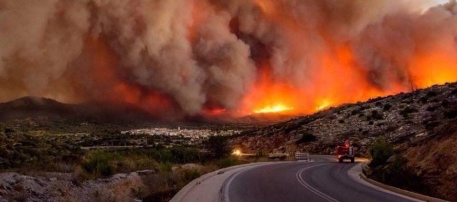 Incendii devastatoare in Grecia. Ministerul roman al Apararii trimite doua aeronave militare specializate in stingerea incendiilor