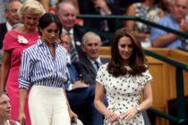 Kate Middleton si Meghan Markle, prima aparitie publica fara sotii lor. Imagini de la turneul de tenis de la Wimbledon