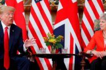"Discutii intre Donald Trump si Theresa May despre Brexit. Premierul britanic: SUA si Marea Britanie vor negocia un acord comercial ""ambitios"""