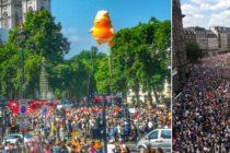 Donald Trump intampinat cu proteste la Londra. Zeci de mii de oameni ii contesta prezenta in Marea Britanie