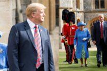 Trump nu este tocmai un maestru al elegantei, lucru dovedit si la intalnirea cu Regina Marii Britanii. Ce gafe a facut presedintele SUA. VIDEO