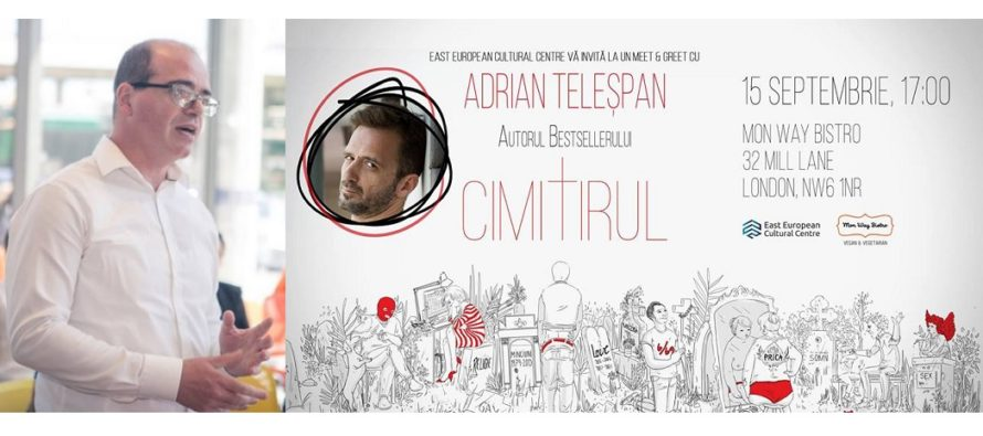 """East European Cultural Centre din Londra va invita la o intalnire cu Adrian Telespan, autorul best-seller-ului """"Cimitirul"""". Sorin Ciociu: Vrem sa indemnam publicul sa citeasca"""