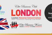 O noua conferinta Elite Business Club Londra, pe 13 septembrie la sediul ICR. Bianca Tudor: Aceasta editie vine sa sublinieze importanta unitatii intr-o comunitate de business