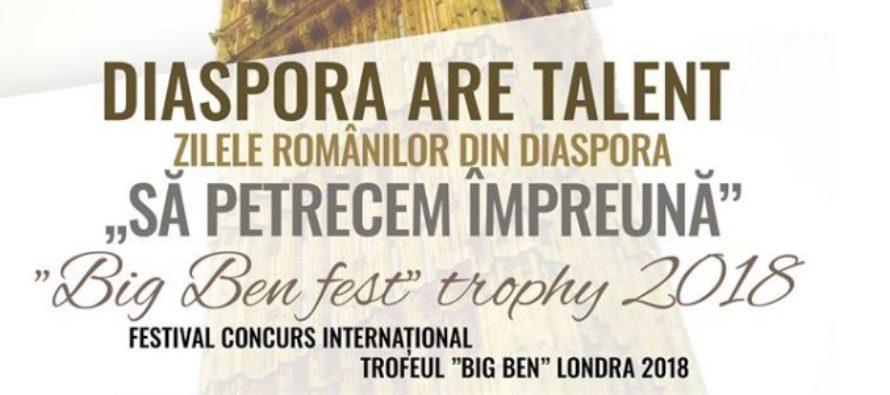 """""""Diaspora are Talent"""", pe 27 octombrie la Londra. Primul concurs de talente pentru romanii din Marea Britanie va fi urmat de """"Zilele Romanilor din Diaspora"""""""