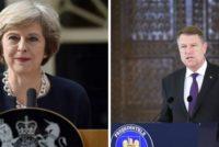 Presedintele Iohannis va avea o intalnire bilaterala cu Theresa May: Am sa o incurajez un pic. Ne dorim un acord, dar nu poate fi renegociat