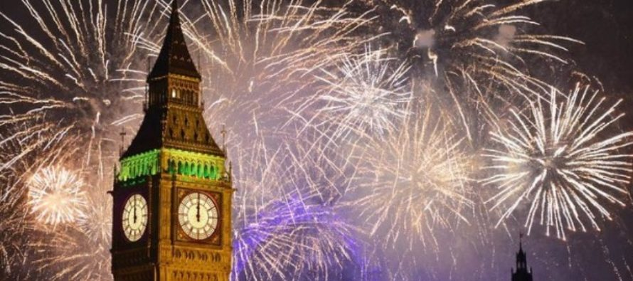 Spectacol grandios de artificii la Londra de Revelion. Mesaj pro-european in anul Brexit, inclusiv in limba romana