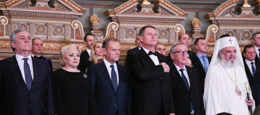 Romania a preluat presedintia Consiliului UE. Antonio Tajani si Jean Claude Juncker au vorbit despre importanta respectarii statului de drept si au transmis ca locul Romaniei e in Schengen