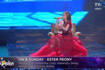 Ester Peony – On a Sunday. Asculta piesa care va reprezenta Romania la concursul Eurovision 2019 de la Tel Aviv