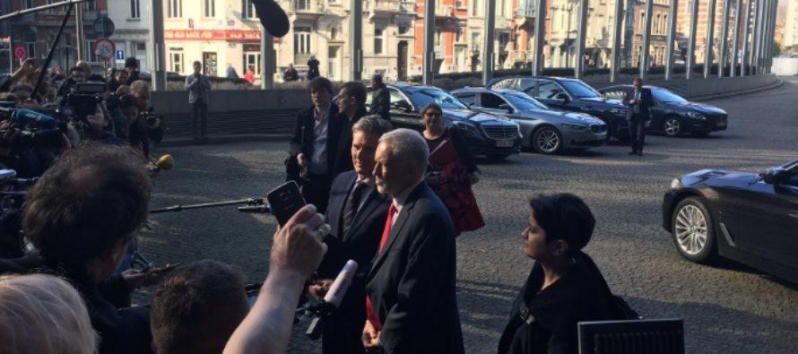 Jeremy Corbyn nu exclude revocarea Art. 50 pentru a evita un Brexit fara acord. Ce a discutat liderul laburist la Bruxelles cu liderii europeni