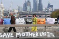 Arestari la Londra in urma protestelor organizate de activistii pentru mediu
