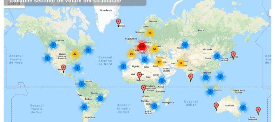 Unde pot vota romanii din Diaspora. Cele mai multe sectii de votare sunt organizate in Italia, Spania, Republica Moldova, SUA, Marea Britanie si Germania