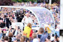 """Papa Francisc, vizita istorica la Iasi. VIDEO. Suveranul Pontif a citat din poezia """"Ce-ti doresc eu tie, dulce Romanie"""", scrisa de Mihai Eminescu"""