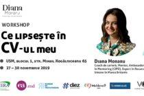 Tu stii ce lipseste in CV-ul tau? Workshop specializat, intre 27 si 30 noiembrie la Chisinau
