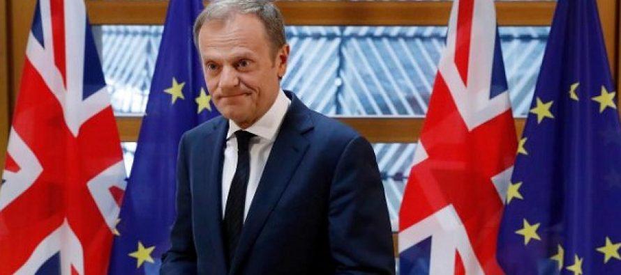 Donald Tusk recomanda liderilor UE sa aprobe solicitarea Marii Britanii de amanare a Brexit