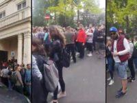 Scene fara precedent la un scrutin european la Londra: Cozi de mii de persoane, asemanatoare cu cele de la alegerile prezidentiale din 2014. LIVE VIDEO. Pozitia Ambasadei Romaniei in Marea Britanie