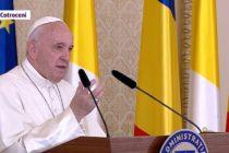 Papa Francisc, discurs istoric la Bucuresti: Sa ne gandim la milioanele de romani plecati in alte tari. Dumnezeu sa binecuvanteze Romania!