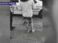 Caz revoltator la Galati. Doi politisti asista nepasatori fara sa intervina atunci cand o fata plina de sange le cere ajutorul